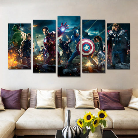 avengers wall art, marvel canvas art, avengers canvas wall art