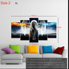 5 Piece Naruto Konoha Wall Art Canvas