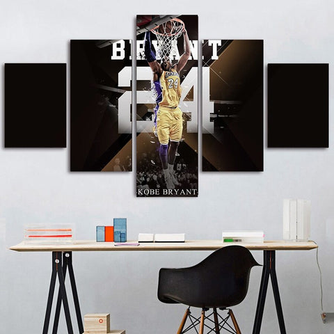 5 Piece Kobe Bryant 4 Wall Art Canvas