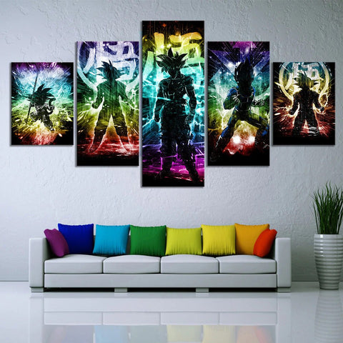 5 Piece Dragon Ball  Wall Art Canvas