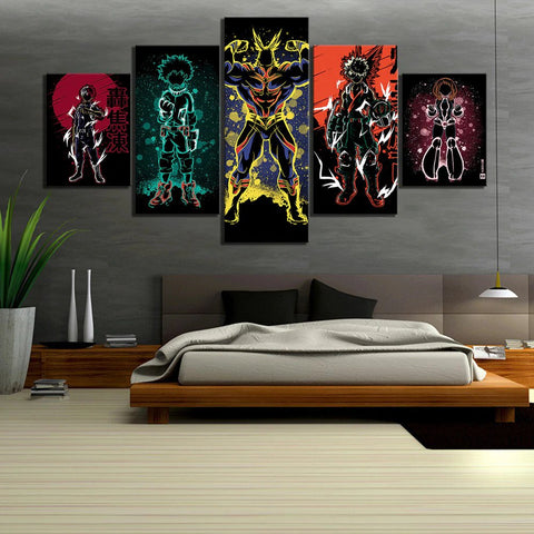5 Piece My Hero Academia 3 Wall Art Canvas