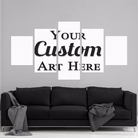 5 Piece Custom Made Wall Art Canvas