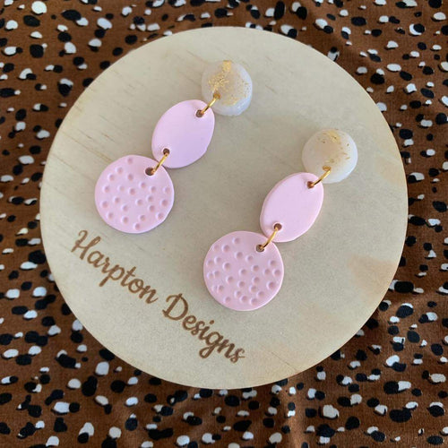 Polymer clay Lacey dangles