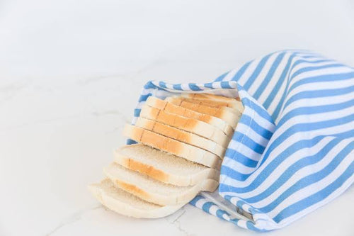 4MyEarth Bread Bag- Denim stripe