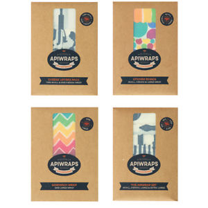 API beeswax food wraps kitchen basics pack