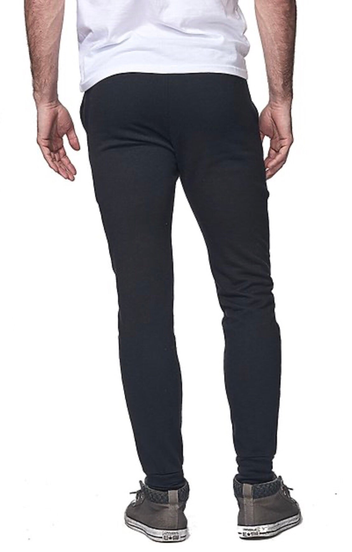 (S/S 2020) French Terry Unisex Joggers in BLACK ORGANIC RPET