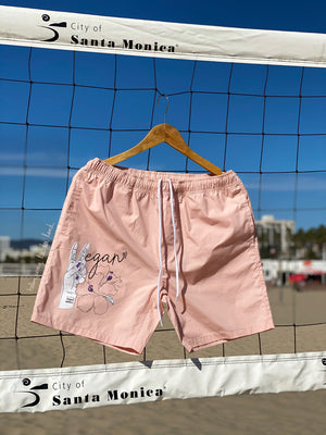 (S/S 2020) ✌🏼Vegan Hawaii beach shorts in PALE CORAL PINK