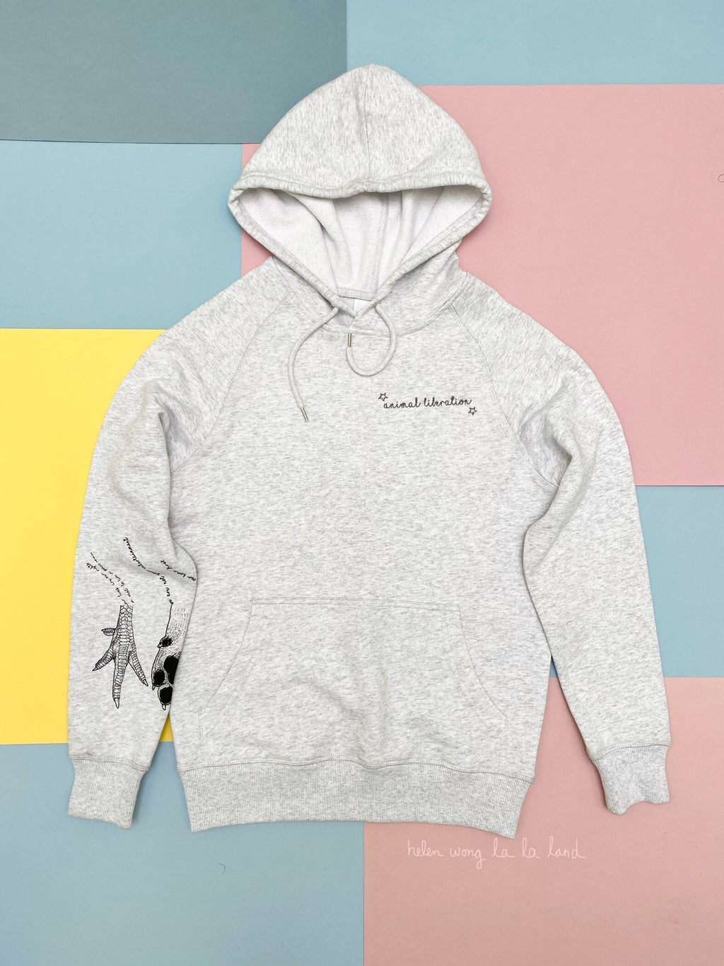 (S/S 2020) Hoof+Claw+Paw+Hand hoodie in WHITE HEATHER