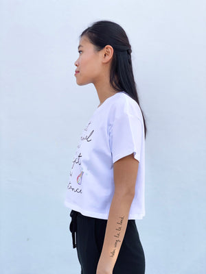 (S/S 2020) Respect Animal Existence crop tee