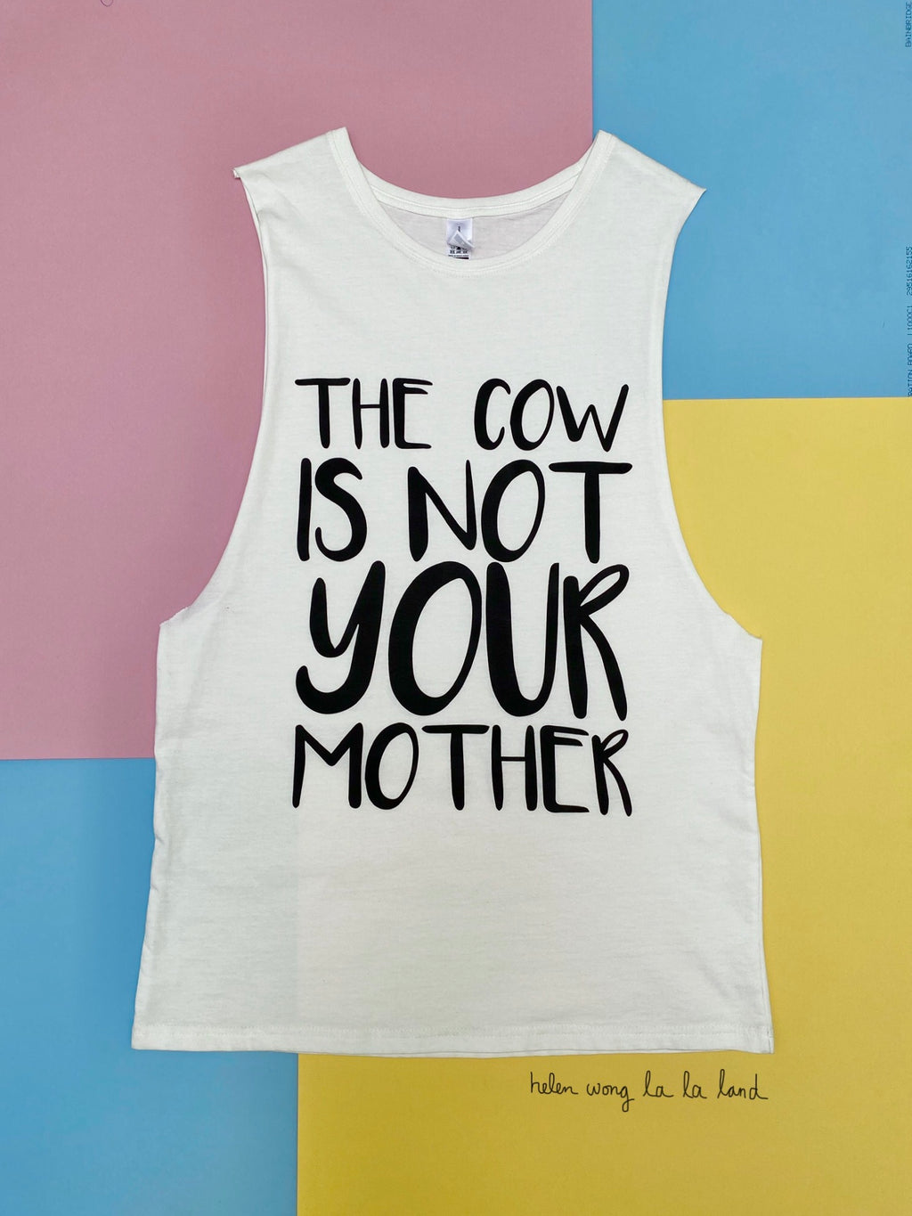 (S/S 2020) The Cow Is Not Your Mother sleeveless tee in CREAM ORGANIC