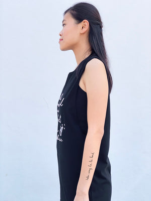 (S/S 2020) Respect Animal Existence sleeveless tee in BLACK ORGANIC
