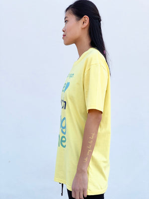 (S/S 2020) Me So Vegan 💙 tee in LEMON YELLOW m