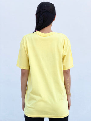 (S/S 2020) Me So Vegan 💙 tee in LEMON YELLOW