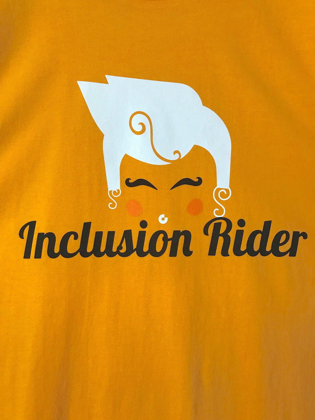 Inclusion Rider tee in GOLD UNISEX
