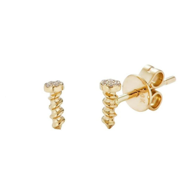 14k Gold Screw Studs