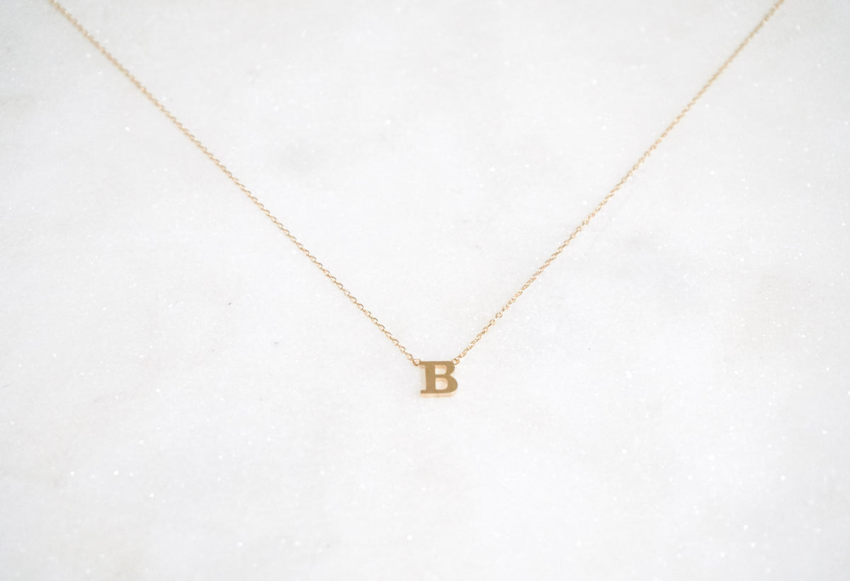 14k Initial Necklace - Nolita