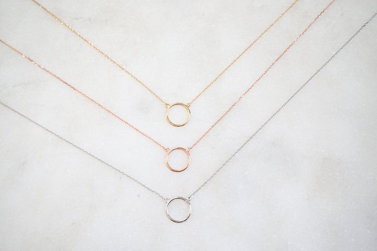 14k Circle Necklace - Nolita