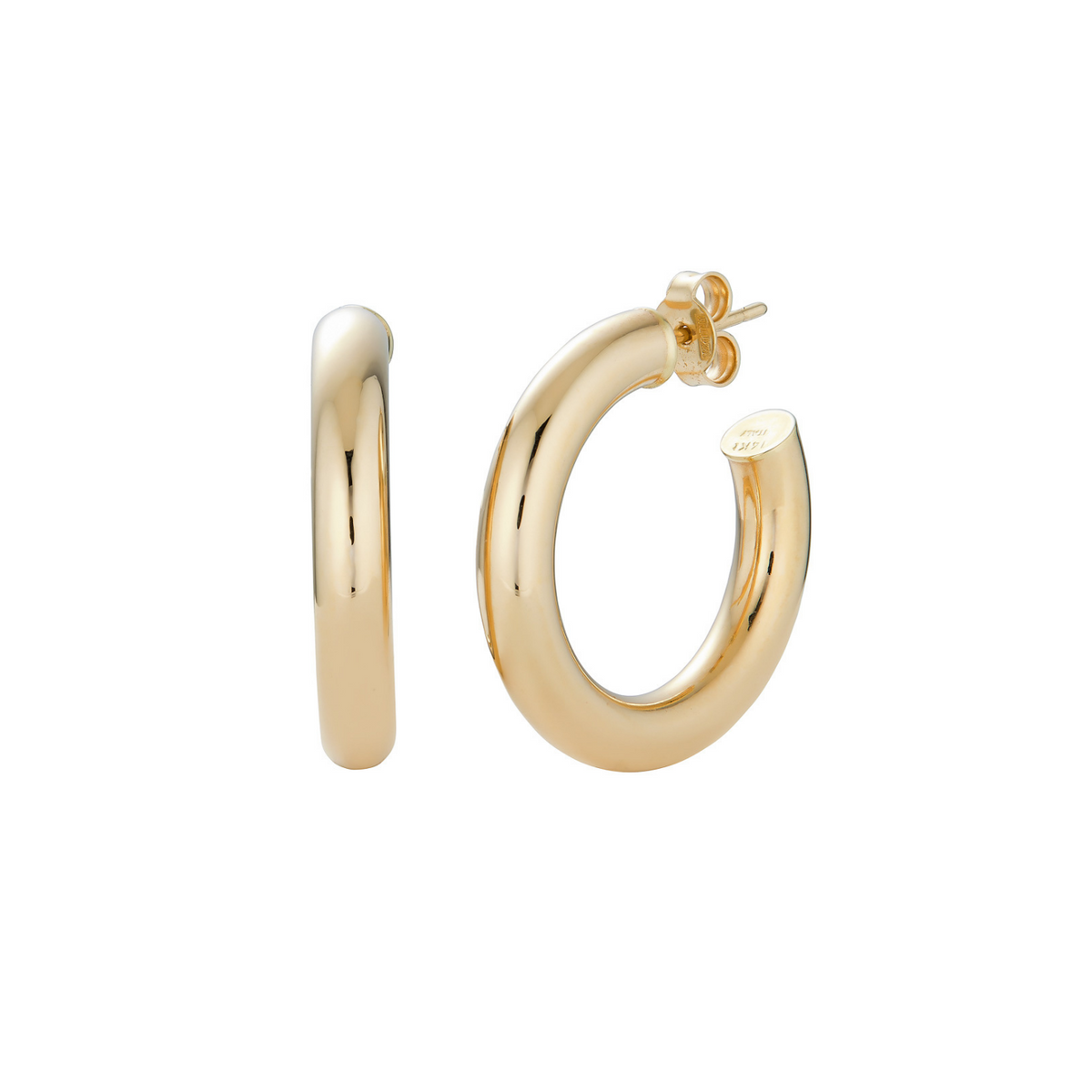 14k Chunky Hoop Earrings- Medium - Nolita