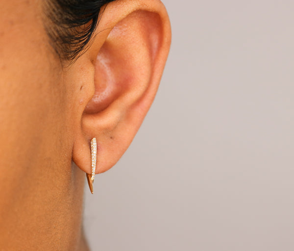 14k Diamond Thorn Earrings