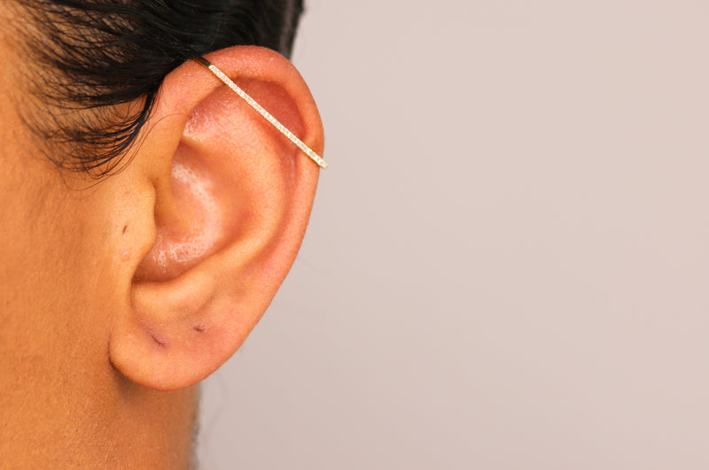 14k Diamond Ear Cuff