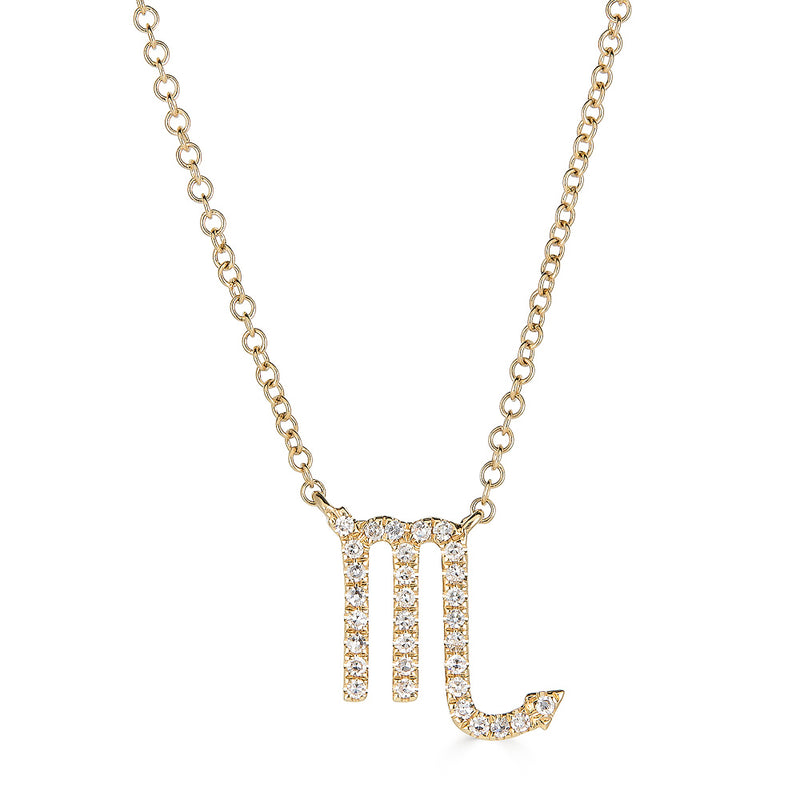 14k Diamond Zodiac Necklace