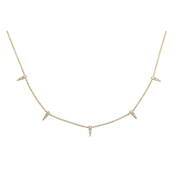 14k Diamond Spike Necklace
