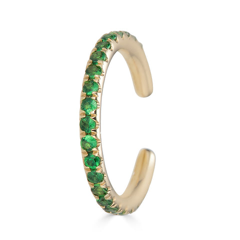 14k Emerald Ear Cuff - Nolita