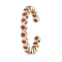 14k Ruby Bezel Ear Cuff