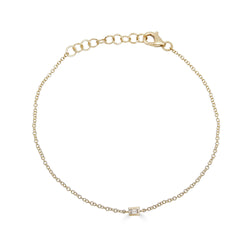 14k Gold Diamond Baguette Bracelet