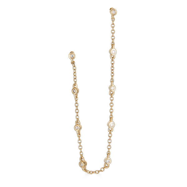 14k Diamond Chain Earring