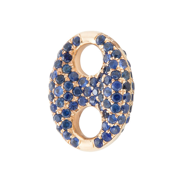 14k Gold Mariner Link Sapphire Charm