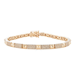 14k Diamond Studded Bracelet