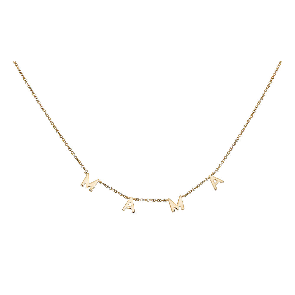 14k Gold Mama Necklace - Nolita