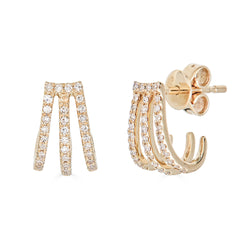 14k Diamond Caged Earrings
