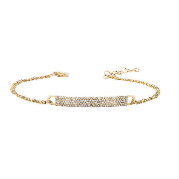 14k Diamond ID Bracelet- Small