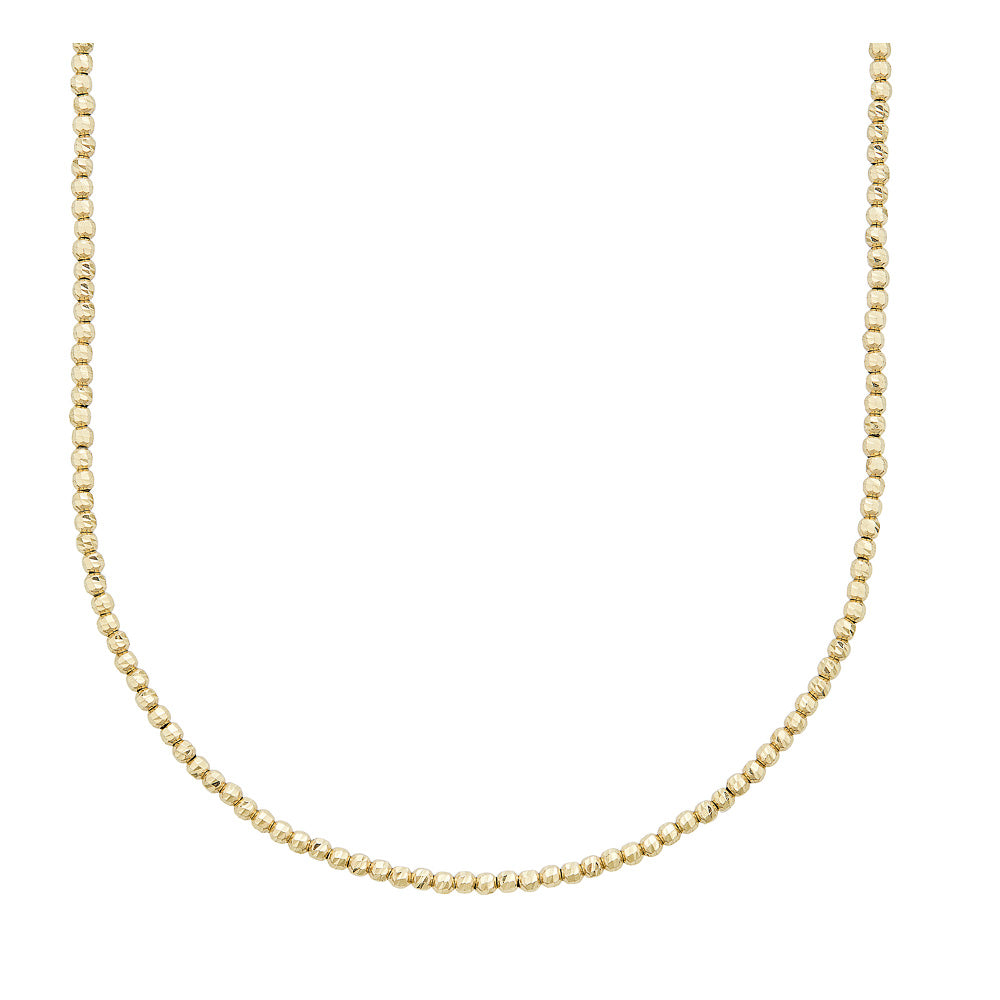 14k Gold Diamond Cut Ball Chain - Nolita