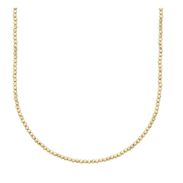 14k Gold Diamond Cut Ball Chain