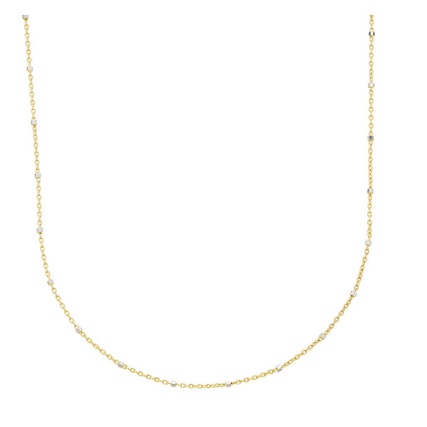 14k Saturn Necklace