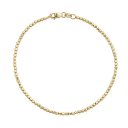 14k Gold Diamond Cut Ball Chain Gold Bracelet