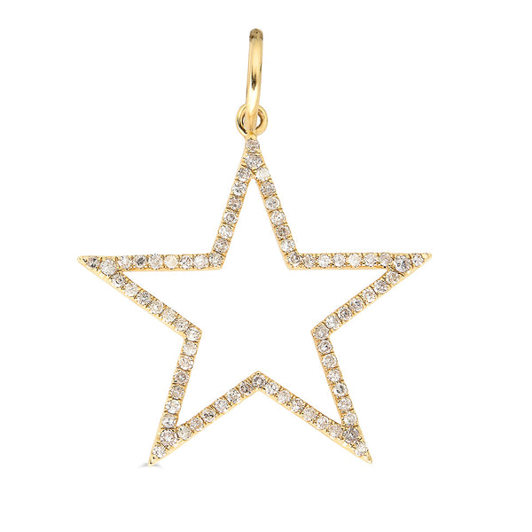 14k Diamond Star Charm