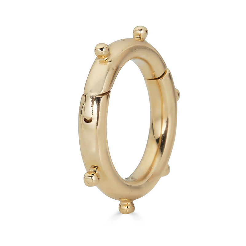 14K Solid Gold Enhancer Charm Lock - Nolita