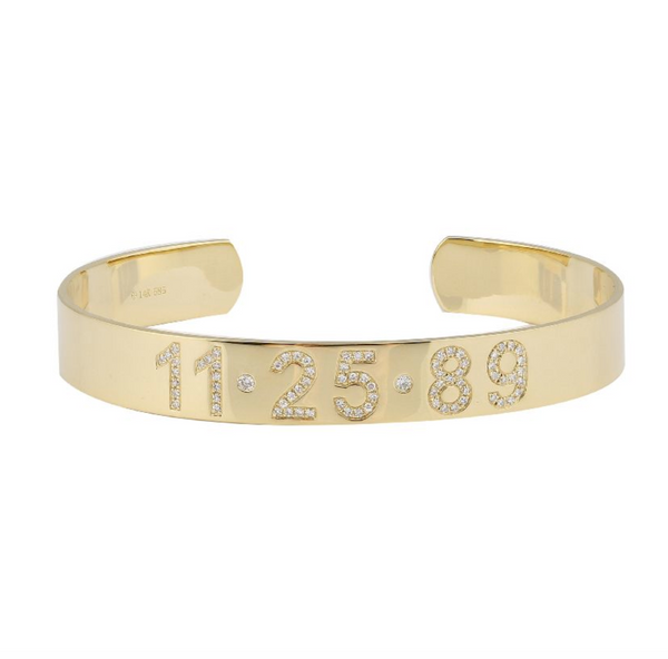 14k Custom Diamond Bangle