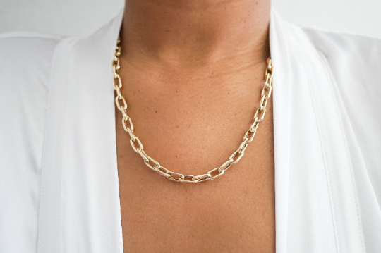 14k Anchor Chain Necklace - Nolita