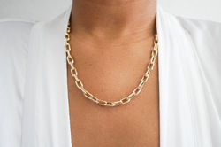 14k Anchor Chain Necklace