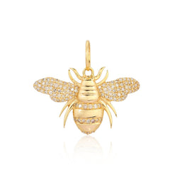 14k Diamond Bee Charm