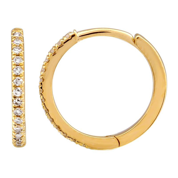 14k Diamond Hoops - Nolita
