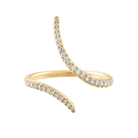14k Diamond Wrap Ring