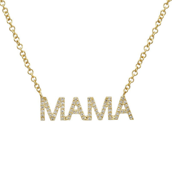 14k Diamond Mama Necklace - Nolita