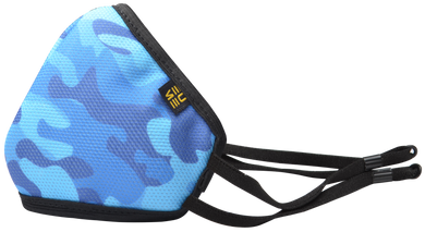 Protect +95 Camo Blue Face Mask by EUME