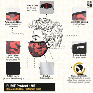 +95 Camo Red Face Mask by EUME